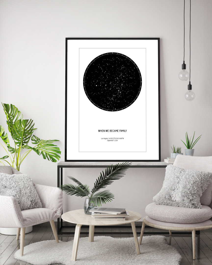 Night Sky Constellation Poster Minimalist Inspiration