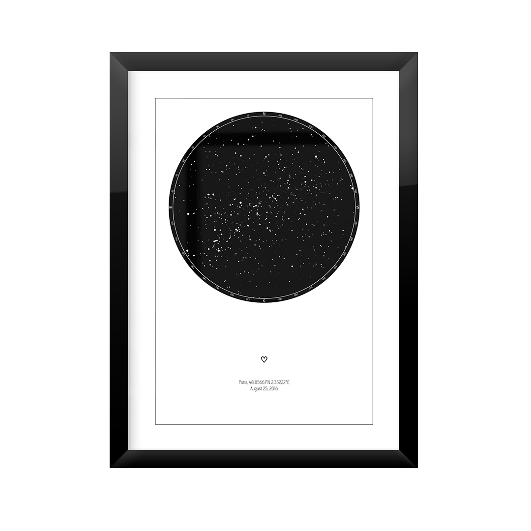 custom star map download or printed