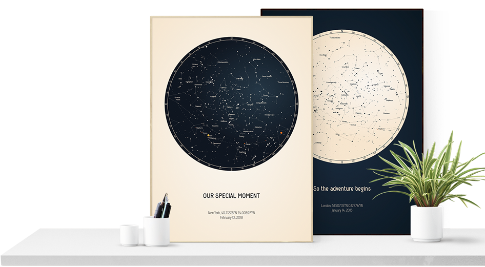 Strellas Design Your Printed Or Digital Custom Star Map