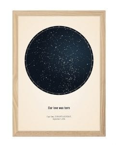 customizing your star map poster
