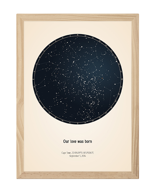 Create your own star map with custom text