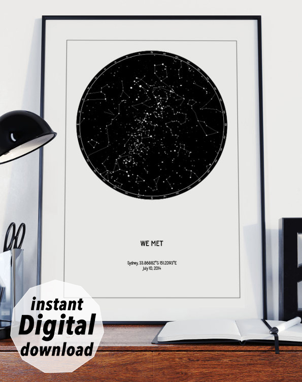 custom star map for digital download