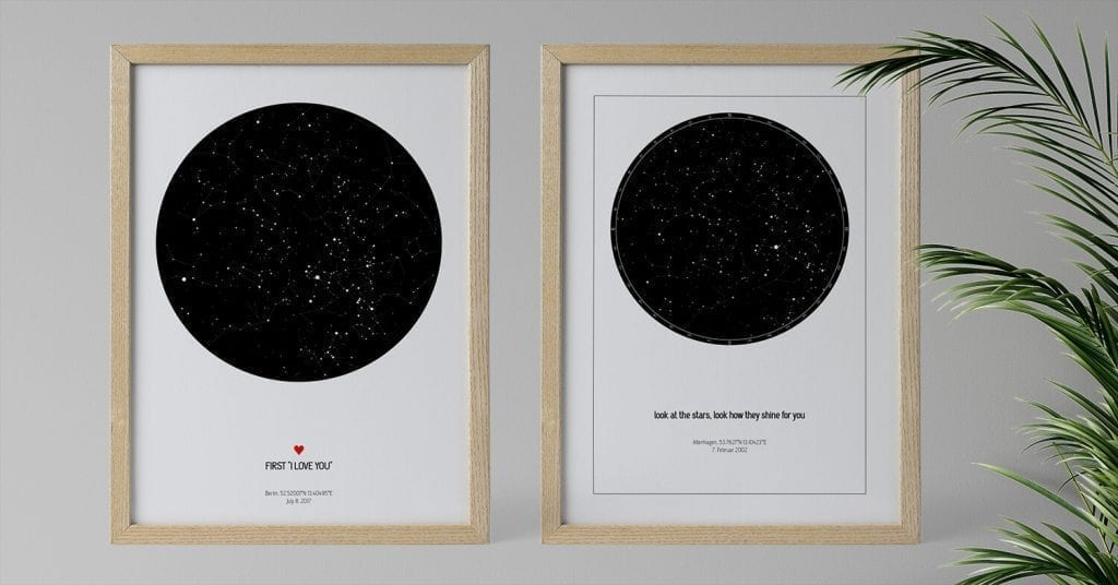 Personalized star maps perfect for Valentines gift