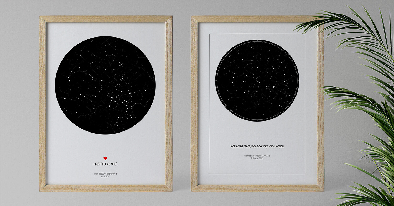 Star Map The Most Romantic Valentines Day Gift Strellas Com
