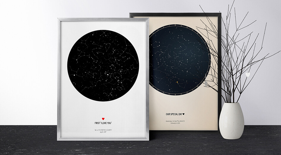 Valentines Day Starry Map   Stary Map Strellas